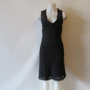 NWT ELIE TAHARI BLACK LACE SLEEVELESS DRESS 4*